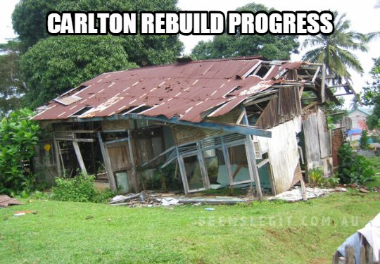 Carlton Rebuild Progress
