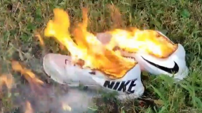 Burning Nike Shoes